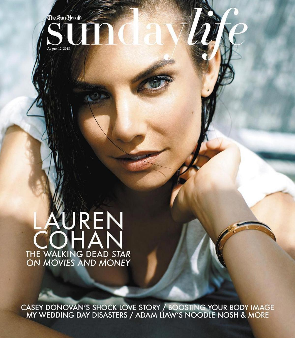 Lauren Cohan on the Cover of Sunday Life Magazine, August 2018 1