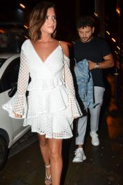Lucy Mecklenburgh Arrives at Thomas Twins 30th Birthday Party in Manchester 2018/08/11 2