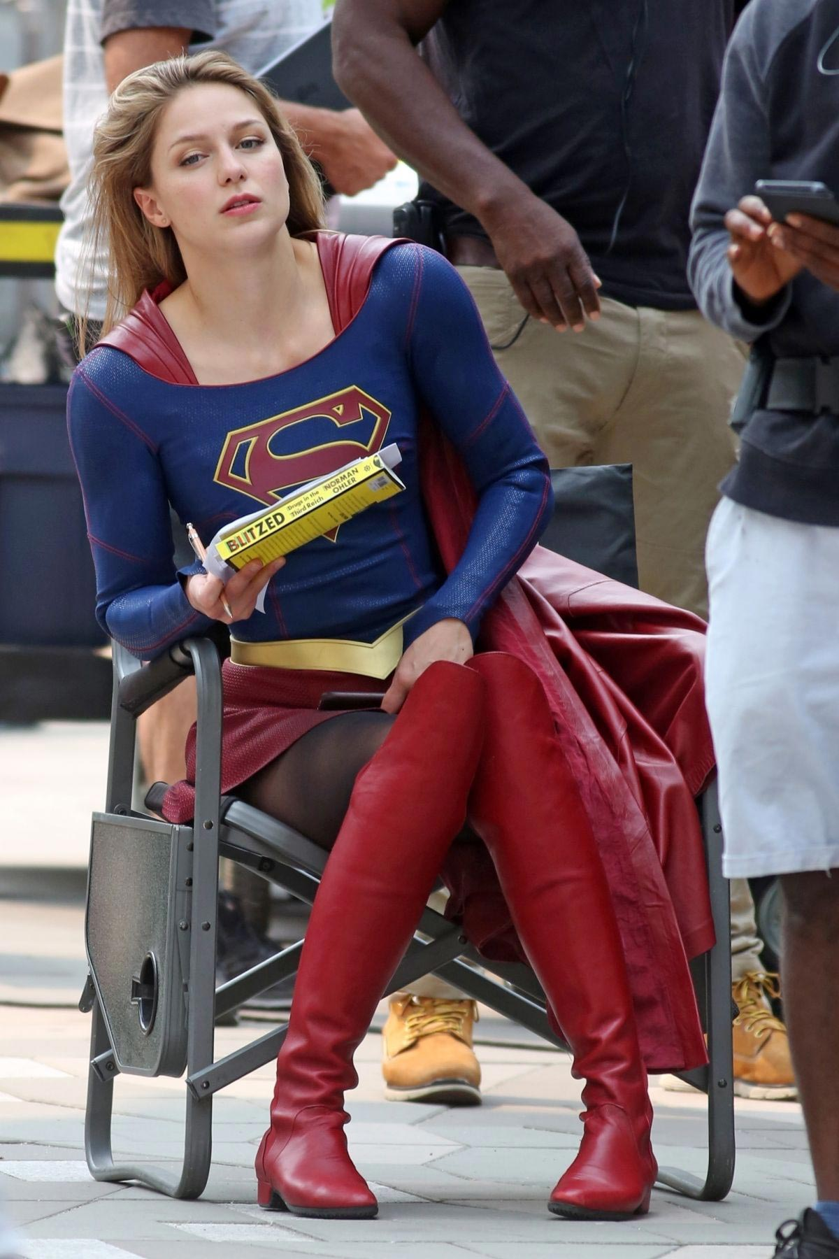 Melissa Benoist on the Set of Supergirl in Vancouver 2018/08/14 1