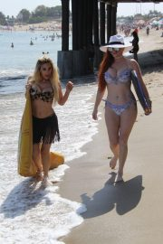 Phoebe Price and Marcela Iglesias in Bikinis at a Beach in Malibu 2018/08/19 1