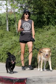 Pregnant Troian Bellisario Out with Her Dog in New York 2018/08/16 4