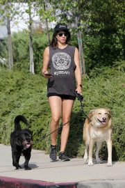 Pregnant Troian Bellisario Out with Her Dog in New York 2018/08/16 10