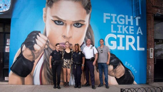 RONDA ROUSEY at Her Mural in New York 08/17 1