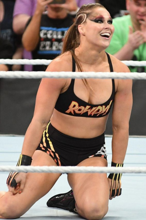 Ronda Rousey at WWE Summerslam 2018 in Brooklyn 2018/08/19 1