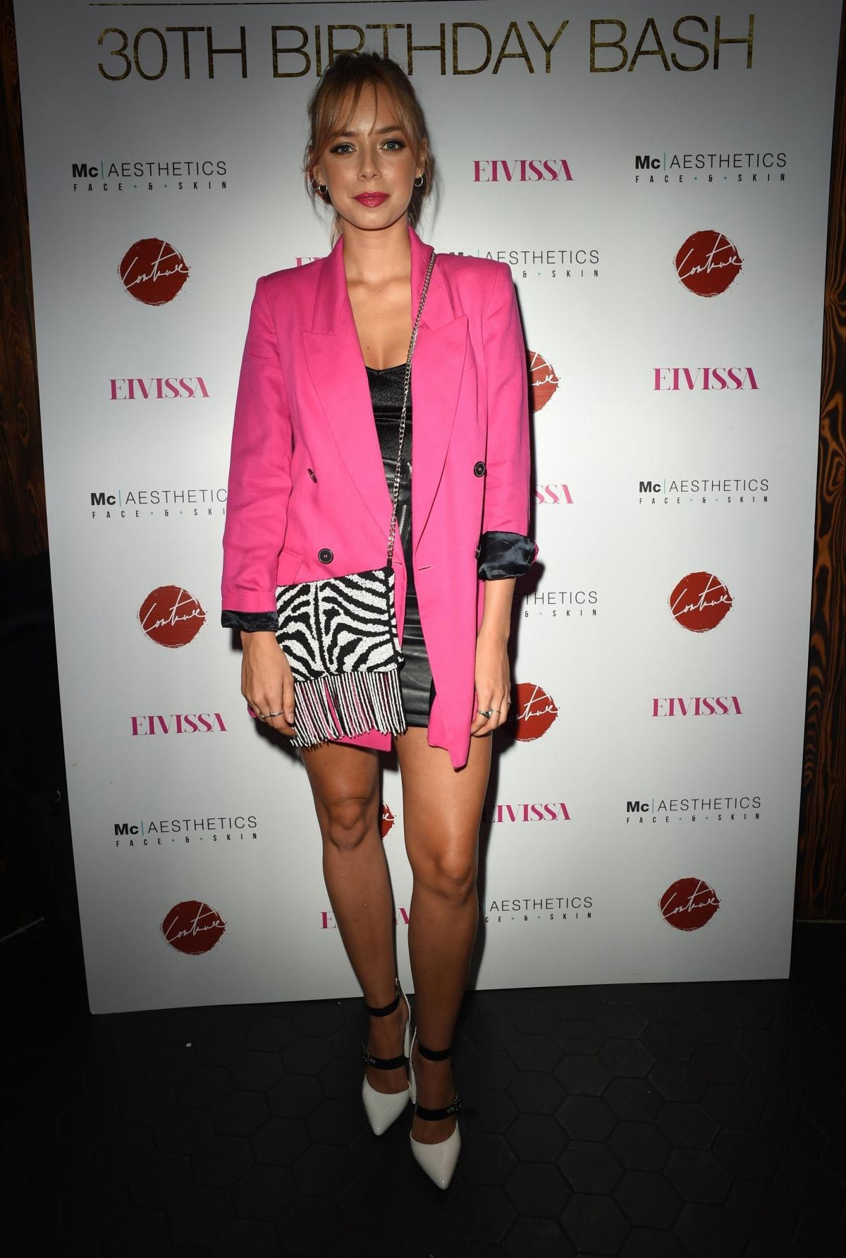 Sacha Parkinson at Thomas Twins 30th Birthday Party in Manchester 2018/08/11 1