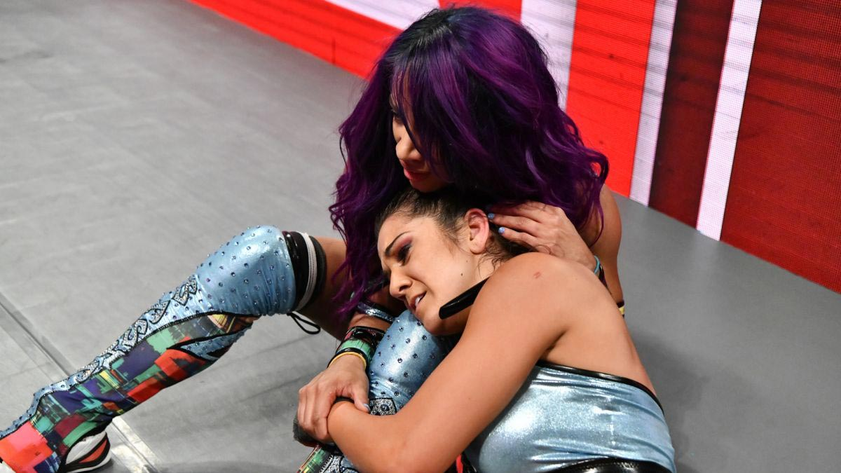 Sasha Banks and Bayley vs. Liv Morgan and Sarah Logan - WWE RAW Photos 2018/08/06 1