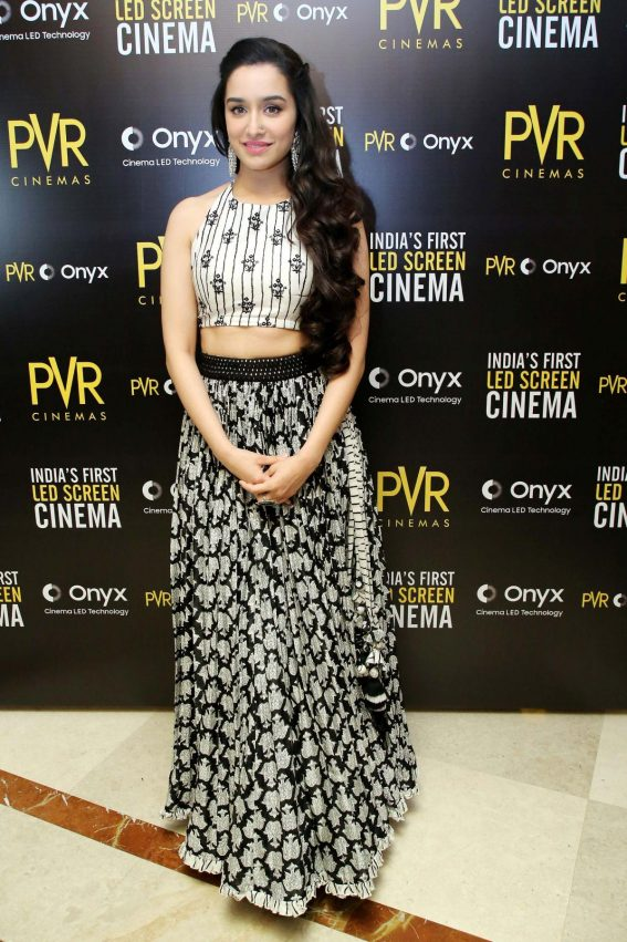 Shraddha Kapoor at Launch of First Led Screen Cinema Onyx in New Delhi 2018/08/27 1