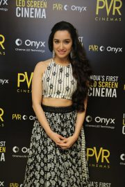 Shraddha Kapoor at Launch of First Led Screen Cinema Onyx in New Delhi 2018/08/27 2