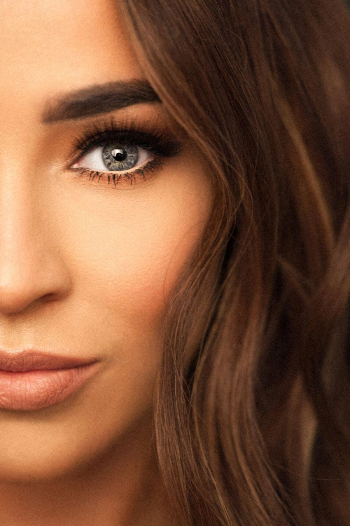 Stephanie Davis for Her New Eyelashes with JYY London, August 2018 1