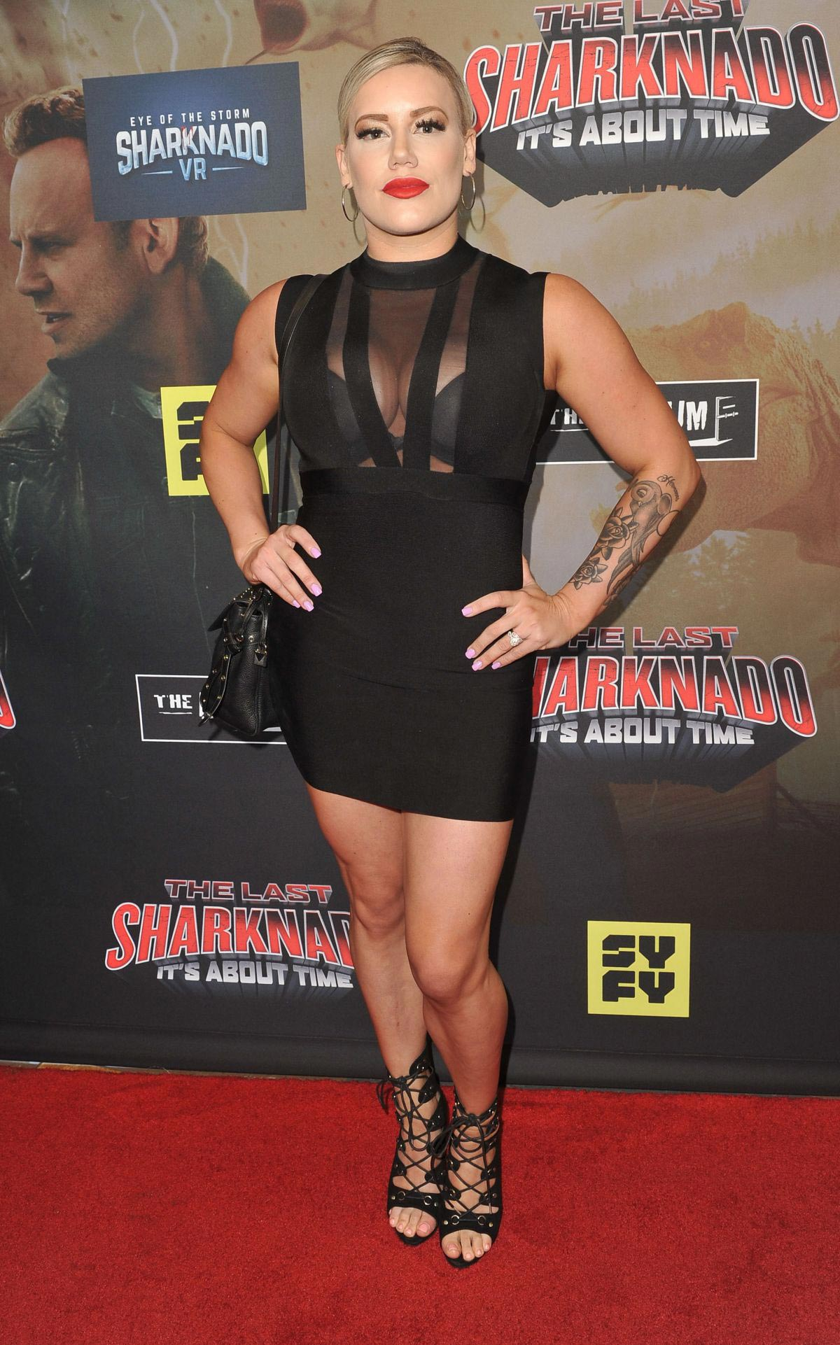 Taya Valkyrie at The Last Sharknado: It's About Time Premiere in Los Angeles 2018/08/19 1