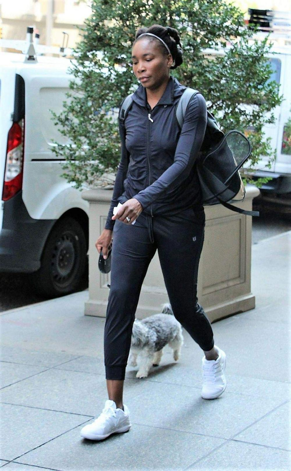 Venus Williams Out with Her Dog in New York 2018/08/24 1
