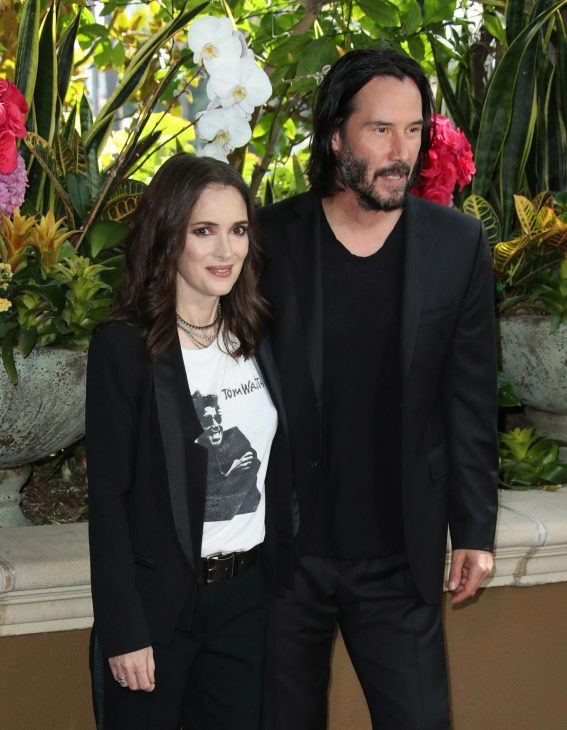 Winona Ryder and Keanu Reeves at Destination Wedding Photocall in Beverly Hills 2018/08/18 1