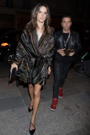 Alessandra Ambrosio Arrives at Zadig & Voltaire Fashion Show at PFW in Paris 2018/09/29 2