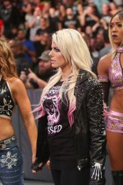 Alexa Bliss, Mickie James and Alicia Fox at WWE Raw in Dallas 09/17 5