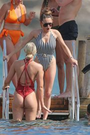 Amber Davies in Swimsuit on the Beach in Ibiza 2018/08/31 3