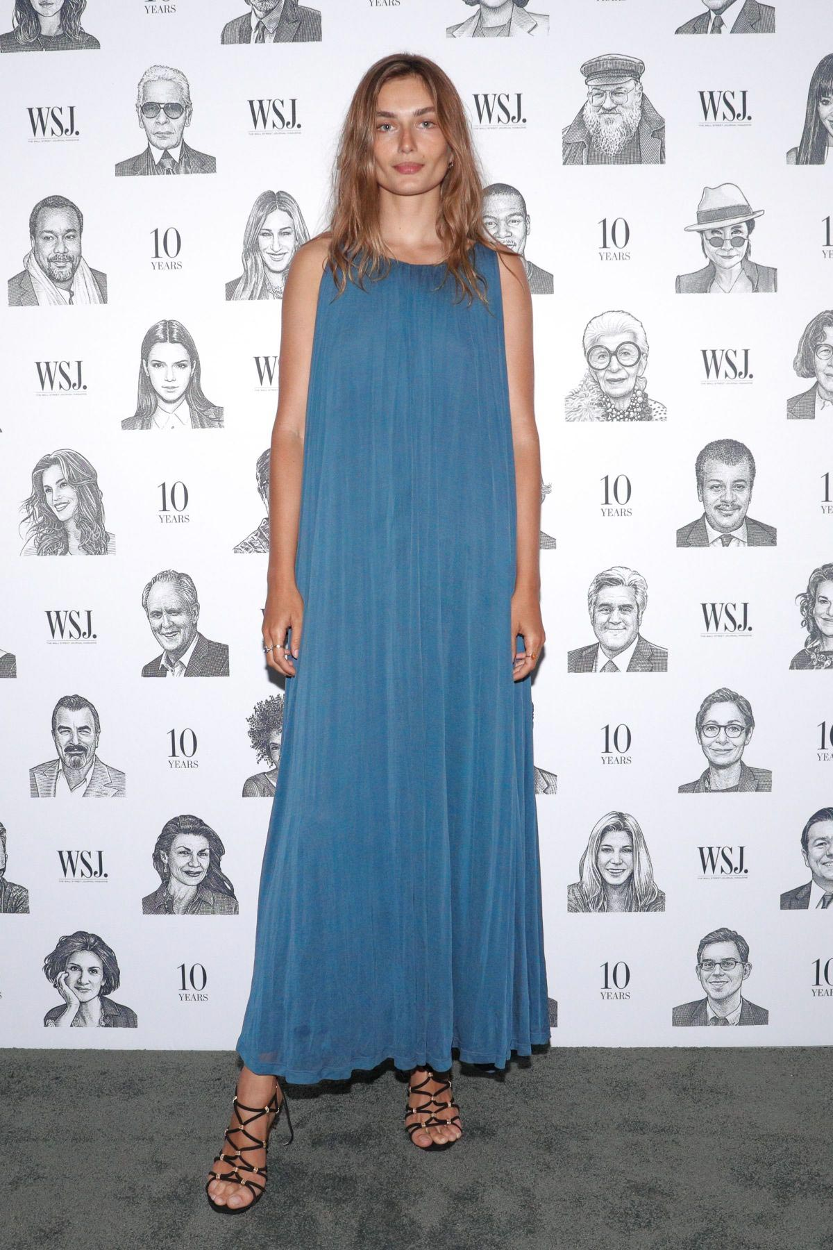 Andreea Diaconu at WSJ Magazine 10th Anniversary Party in New York 2018/09/04 1