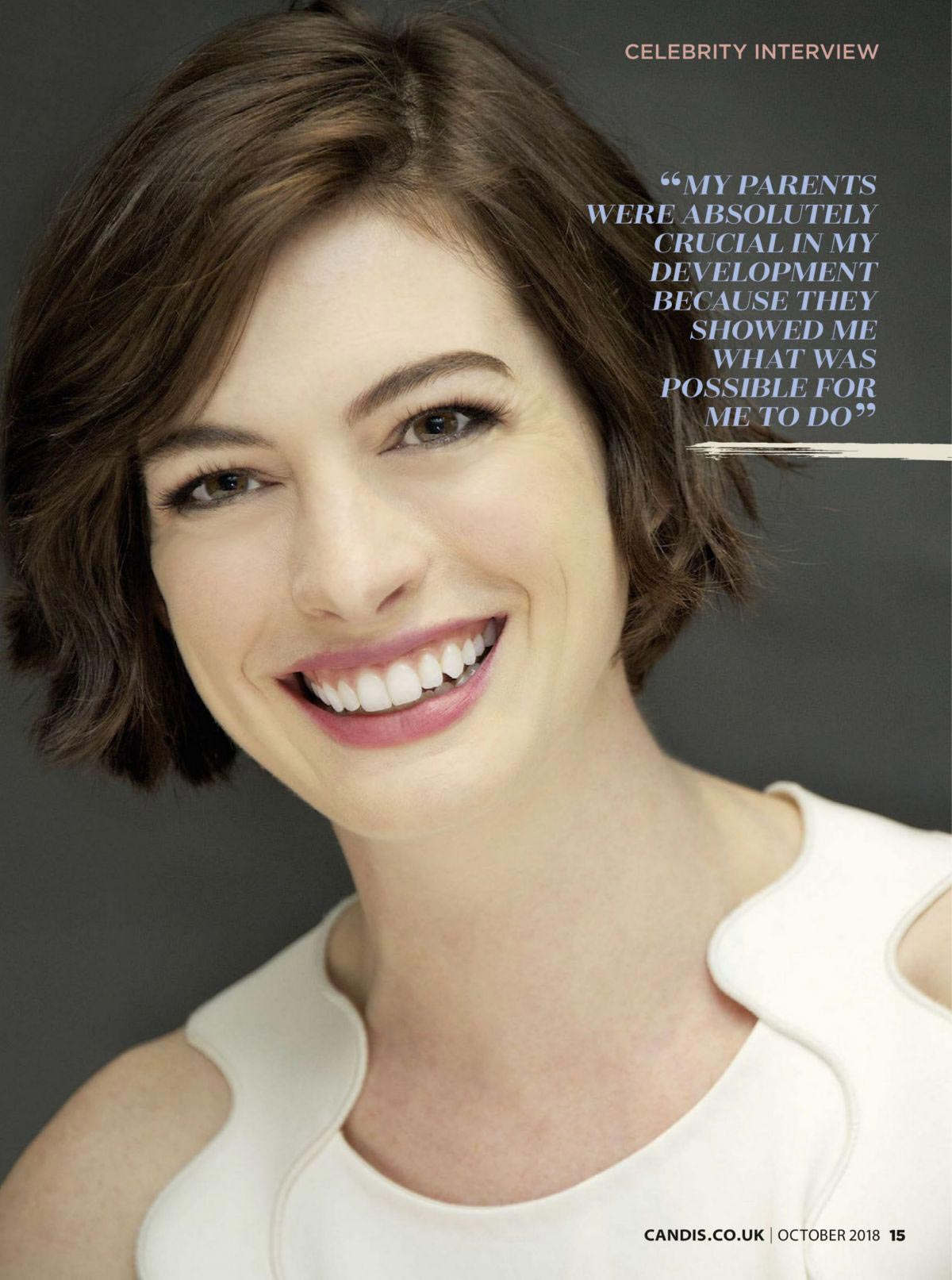 Anne Hathaway in Candis Magazine, October 2018 1