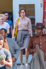 Brie Larson on the Set of Just Mercy in Atlanta 2018/09/22 2