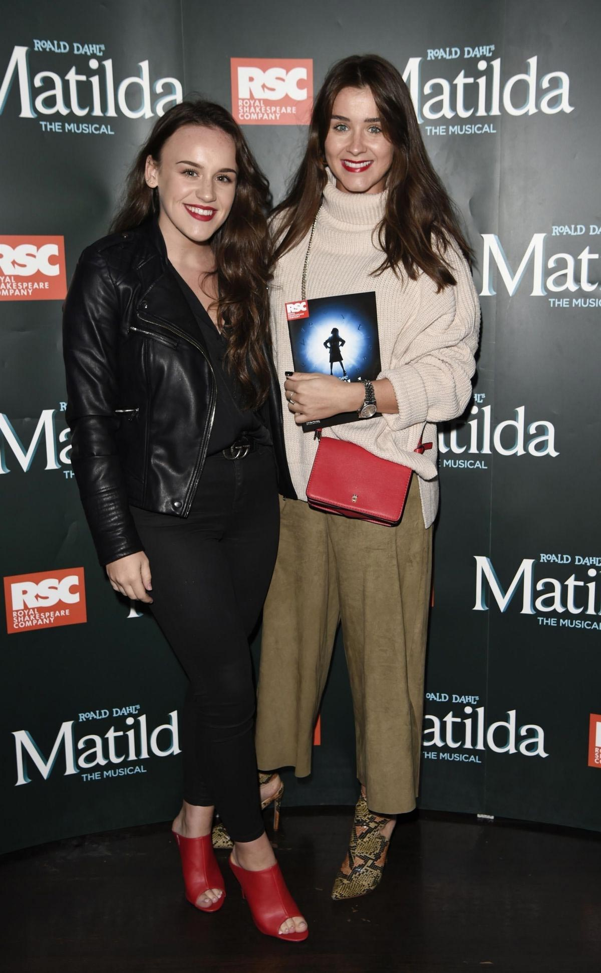 Brooke Vincent and Elle Leech at Matilda Press Night in Manchester 2018/09/20 1