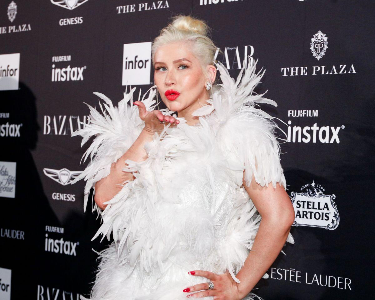 Christina Aguilera at Harper's Bazaar Icons by Carine Roitfeld Event in New York 2018/09/07 1