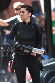 Chyler Leigh on the Set of Supergirl in Vancouver 2018/09/01 3