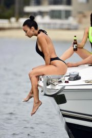 Draya Michele in Swimsuit at a Boat in Newport Beach 2018/09/06 15