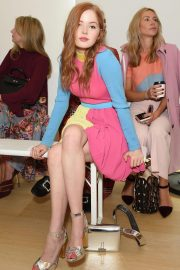 Ellie Bamber at Emilia Wickstead Show at London Fashion Week 2018/09/17 2