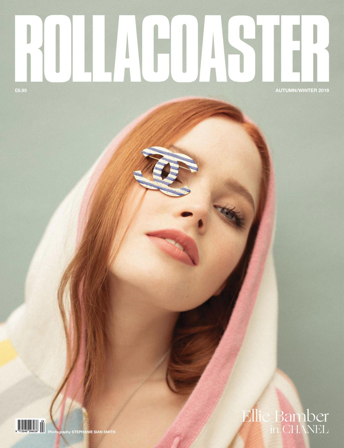 Ellie Bamber on The Cover of Roller Coaster Autumn Winter 2018 1