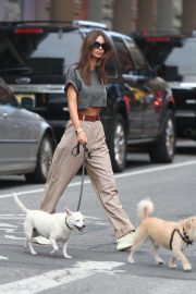 Emily Ratajkowski Out with Her Dog in New York 2018/09/13 10