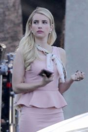 Emma Roberts on the Set of American Horror Story in Los Angeles 2018/09/12 2