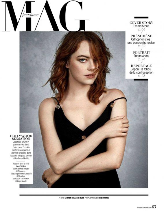 Emma Stone in Madame Figaro, September 2018 Issue 1