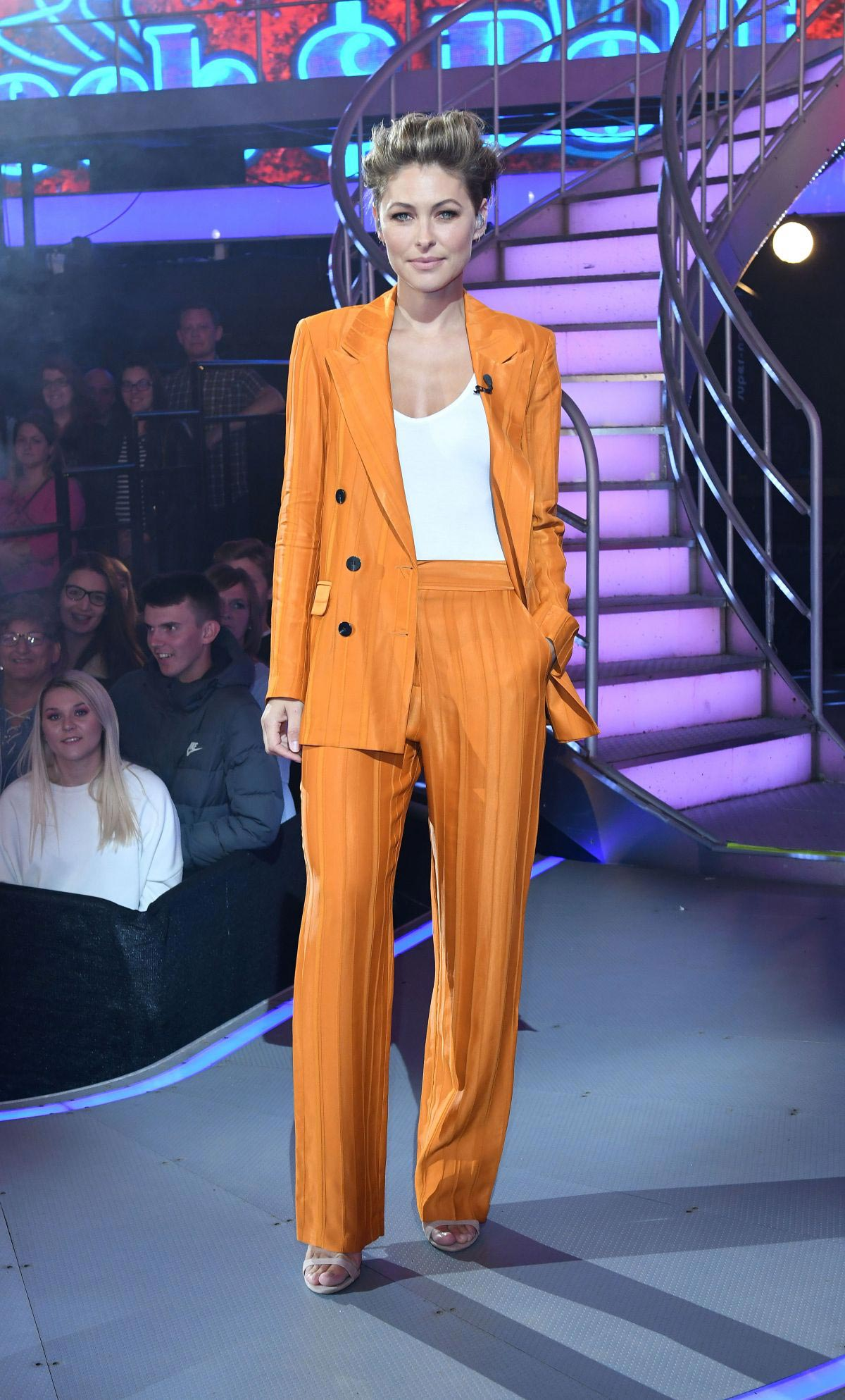 Emma Willis at Celebrity Big Brother Eviction Show in Borehamwood 2018/08/24 11