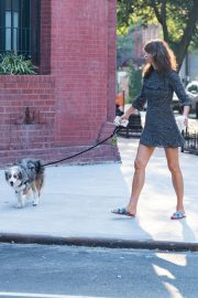 Helena Christensen Out with Her Dog in New York 2018/09/03 4