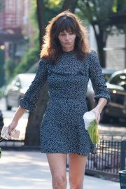 Helena Christensen Out with Her Dog in New York 2018/09/03 7