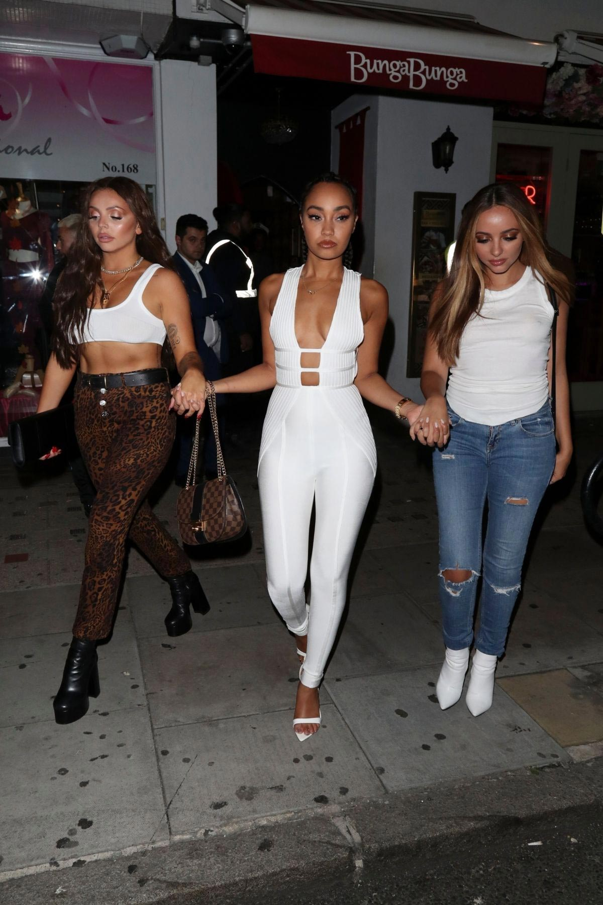Jade Thirlwall, Leigh-Anne Pinnock and Jesy Nelson at Bunga Bunga in Covent Garden 2018/09/14 1