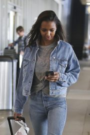 Jasmine Tookes in Double Denim at LAX Airport in Los Angeles 2018/09/24 7