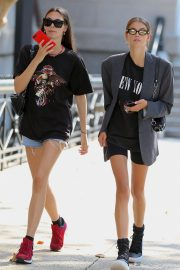 Kaia Gerber and Vittoria Ceretti Out in New York 2018/09/03 2