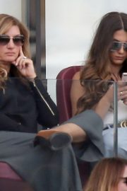 Karren Brady and Sophia Peschisolido at West Ham United vs Wolves Match in London 2018/09/01 2