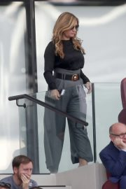 Karren Brady and Sophia Peschisolido at West Ham United vs Wolves Match in London 2018/09/01 4
