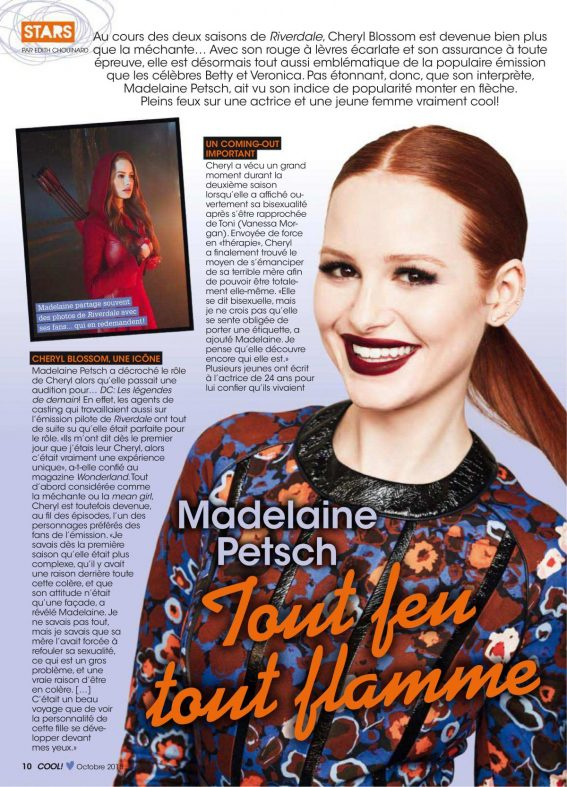 Madelaine Petsch in Cool Canada Magazine, October 2018 6