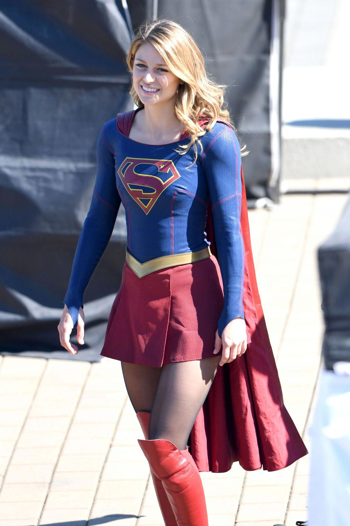 Melissa Benoist on the Set of Supergirl in Vancouver 2018/09/05 1