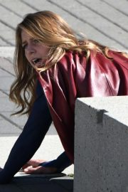 Melissa Benoist on the Set of Supergirl in Vancouver 2018/09/05 5
