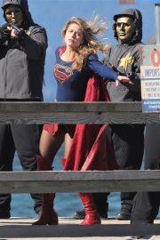 Melissa Benoist on the Set of Supergirl in Vancouver 2018/09/28 8