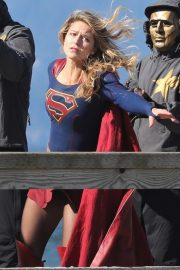 Melissa Benoist on the Set of Supergirl in Vancouver 2018/09/28 10