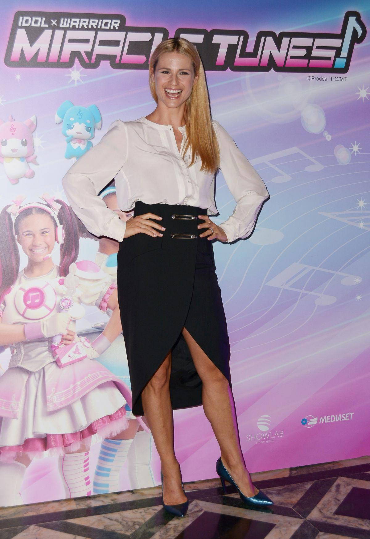 Michelle Hunziker at Miracle Tunes TV Fiction Photocall in Milan 2018/09/30 1