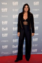 Michelle Rodriguez at Widows Press Conference in Toronto 2018/09/09 1
