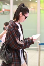 Ming Xi at Airport in Beijing 2018/09/05 5