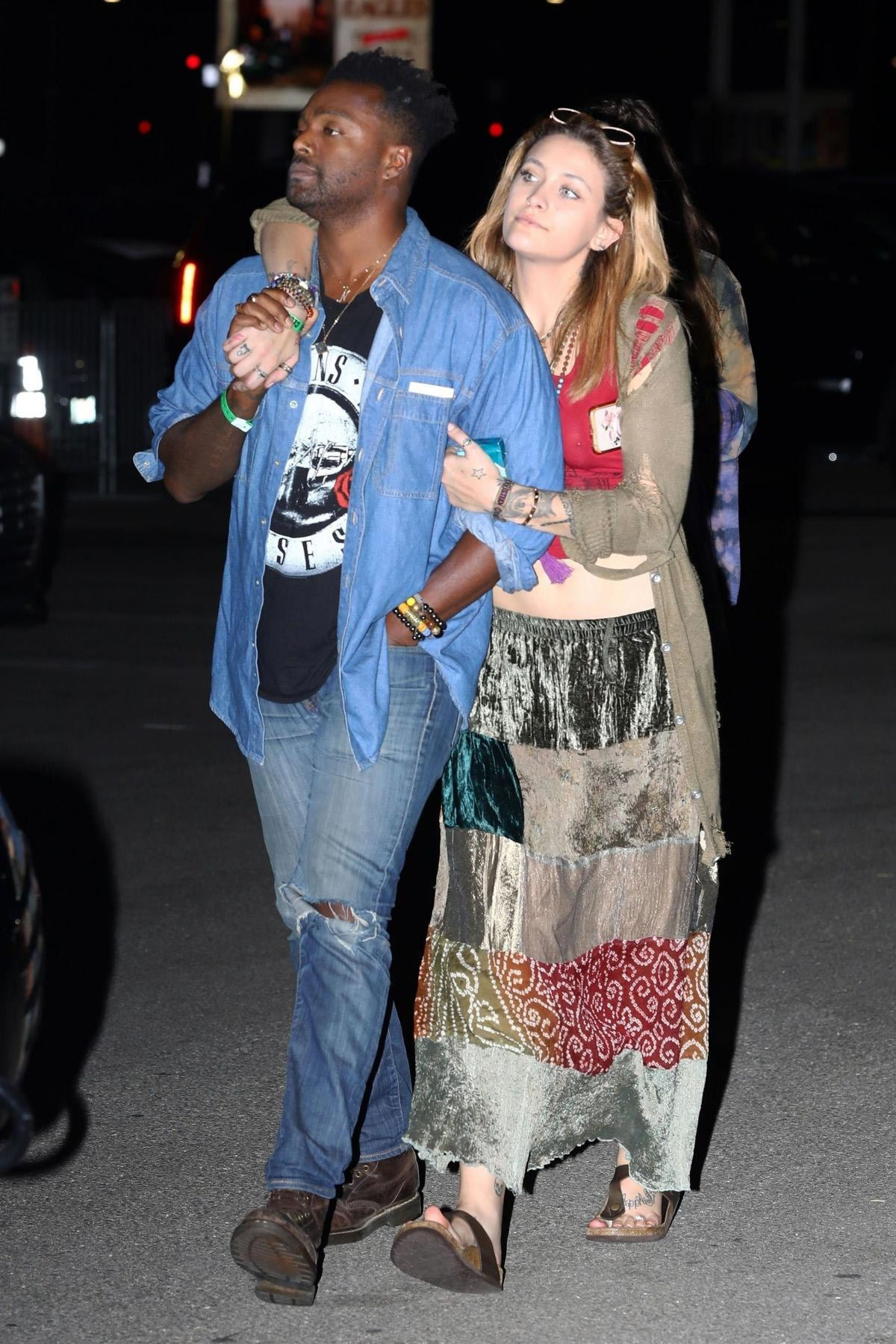 Paris Jackson at The Eagles Concert in Inglewood 2018/09/12 1