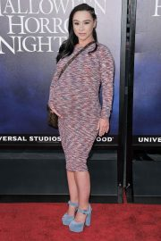 Pregnant Danielle Harris at Halloween Horror Nights Opening in Los Angeles 2018/09/14 2