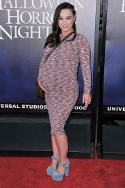 Pregnant Danielle Harris at Halloween Horror Nights Opening in Los Angeles 2018/09/14 6